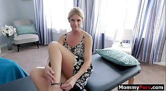 Mom and son massage leads to hookup