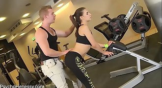 Sack of babymakers fucked in the gym