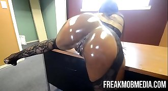 Armani Sticky's Big Black Booty gets drilled by BBC