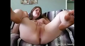 Hot amateur BBW cums in front of the camera