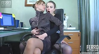 Lesbian Sex Between Lawyer and Secretary - Johane Johansson & Olga Barz