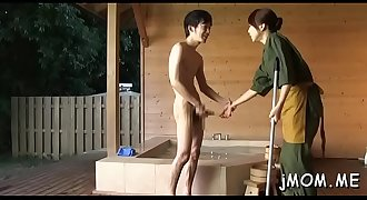 Weenie hungry japanese mature deepthroats a large dick passionately