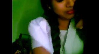 Timid indian school girl