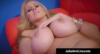 World Famous Mummy Julia Ann Rails Stripper Pole & Rubs Cunt!