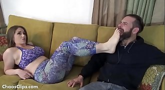Stinky Foot Worship in Spandex - ChaosClips.com