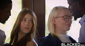BLACKED Redhead Kimberly Brix First Interracial Threesome