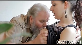 Young honey licked by an old guy