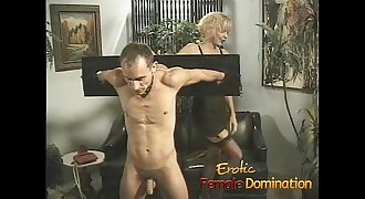 Busty mummies play with a skinny loser in the dungeon-6