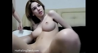 HotFallingDevil.com 2 girl show! Perfect natural tits sexy amateur cam girls
