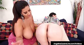 Huge Boobed BBWs Angelina Castro & Sofia Rose Rub One Off!