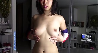 Sexy Petite Chinese Girl Dancing Naked