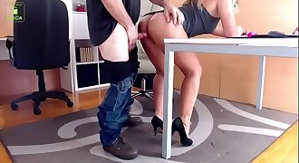 Secretary gets fucked at work
