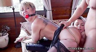 Huge tits Milf anal fucked in threesome
