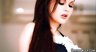 European maid facialized