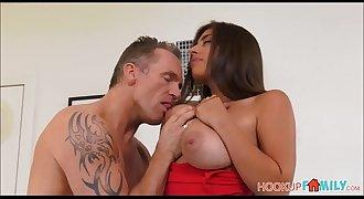 Sexy Big Tits Brunette Latina Stepdaughter Ella Knox Wants Her Stepdad's Big Cock