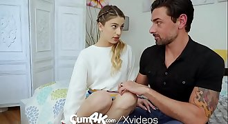 CUM4K Step dad hook-up education FUCK with CREAMPIE