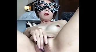Samantha sexy dance and fingering hairy pussy