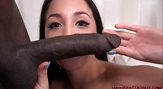 Casting petite asian girl gets big black dick