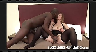 Watch me choke on his big black cock