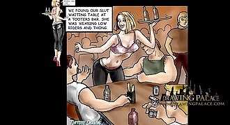 DrawingPalace.com Porn Cartoon Babes getting fucked and penalized in BDSM