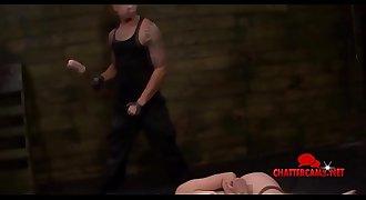 Bondage & Discipline Redhead Babe Get Roughed Up Facial