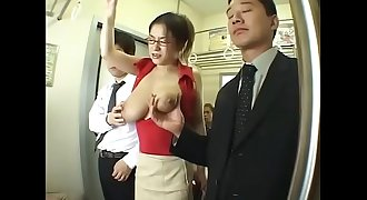 A big boobs Asian Mummy without a brassiere on train - Pt2 On HDMilfCam.com