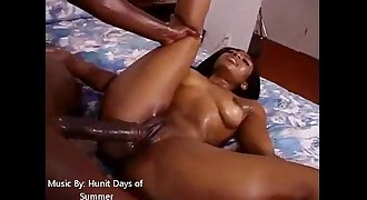 Big Booty Oiled Up And Fucked With Facial cumshot Cum Shot
