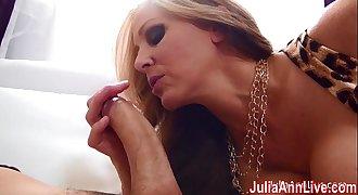 Busty Milf Julia Ann Gets Tits Covered in Cum!