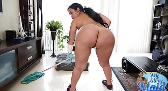 BANGBROS - Cuban Maid, Destiny, Reveals Her Big Ass and Big Tits Then Gets Fucked